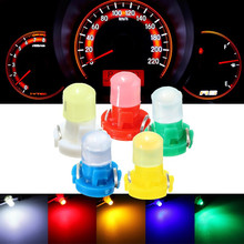 10pcs T3 LED Car Light Bulb Cluster Gauges Dashboard White/Yellow/Blue/Red/Green instruments Panel Climate Base Lamp(China)