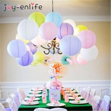 10pcs 9 colorful 6 8-10-12-14 16 Inch Round Chinese Lantern Paper Lanterns For Wedding/holiday/festival/home Party Decorations(China)