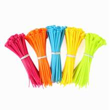 Colorful Practical Mixed Color Plastic Cable Ties Strap 102mm X 2mm Zip Tie Cable Wire Tidy 100Pcs/Pack #64765