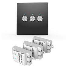 Buy 100V-240V Wall Switch AC 3CH RFID Wireless Remote Control Light Switch Panel+ 3 Receivers Smart Home Switch for $27.99 in AliExpress store