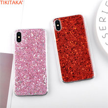 Buy Luxury Glitter Powder Phone Case iPhone X Case Sparkle Bling Shining Sequins Stars Flash Powder Case Soft TPU Fundas Covers for $1.58 in AliExpress store