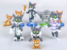 New Hot Tom and Jerry figures Cat Mouse Dog Animals Toy 9pcs #K Kids Action Figure Toys Robot