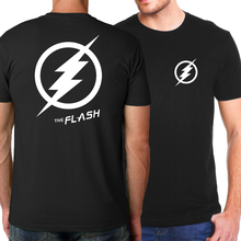 Hot Sale The Flash Men T shirt 2017 Summer Superman Series The Punisher Fashion Men T-Shirt Casual Loose Fit Top Tees Movie Fans
