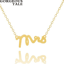 GORGEOUS TALE Letter Pendant Necklace Women Bohemian Chokers Cool Stainless Steel Chain Necklace Lovers Cheerleading Gifts