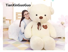 stuffed plush toy huge 160cm teddy bear plush toy white bear soft doll hugging pillow birthday gift w2972(China)