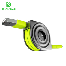 FLOVEME 2 in 1 USB Cable + Micro USB Cables Retractable Mobile Phone Charger for iPhone X 8 7 6 iPad Air 1M for Xiaomi Cabos(China)