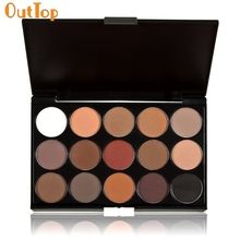 OutTop Love Beauty Female   15 Colors Women Cosmetic Makeup Neutral Nudes Warm Eyeshadow Palette 161014 Drop Shipping