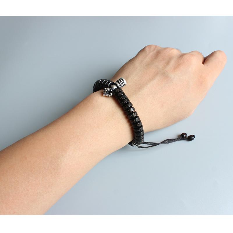 Tibetan Buddhism Natural Coconut Shell Bead Bracelet