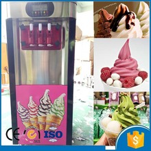 Strong quality Export EU air-cooling mixed-tastes commercial automatic soft ice cream machine CFR price by sea for sale