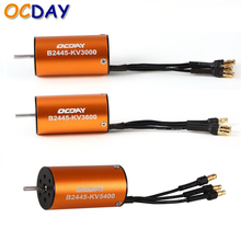 Buy 1pcs OCDAY 2445 B2445 3000KV 3600KV 5400KV Motor Senseless Brushless Motor Waterproof Motor 1/16 1/18 RC Car for $12.02 in AliExpress store