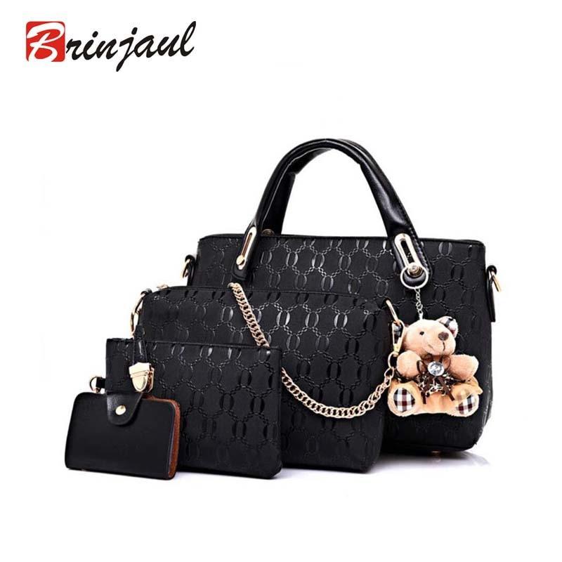 Famous Brand Women Bag Brand 2017 Fashion Women Messenger Bags Handbags PU Leather Female Bag 4 piece Set XP659<br><br>Aliexpress