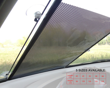 DWCX Car Retractable Front Windshield Window Sun Shade Sunshield Cover Visor Curtain 40cm x 60cm FOR Audi Honda Toyota Nissan(China)