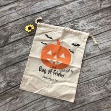 halloween bags cloth halloween buckets 8 design Chevron halloween treat bags Personalized Monogrammed Round Tote Bucket 36*49cm