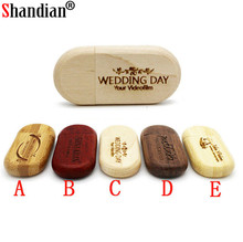 SHANDIAN (OVER 10 PCS free LOGO) maple Wood usb Flash Drive pendrive 4gb 8gb 16gb 32gb Pen Drive 64gb wediing personal Gifts(China)