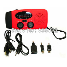 3 in 1 Promotion Digital Portable Radio AM/FM Stereo player+ LED Flashlight + Dynamo Solar Power Emergency with hand Crank