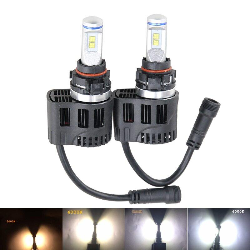 High quality car light source 2 x Error Free H16 5202  led headlight conversion kits 55W 5200LM 12V 24V DC fog driving light<br><br>Aliexpress