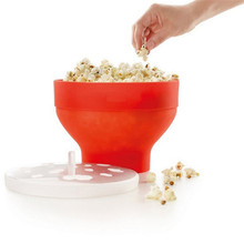 Microwaveable Popcorn Maker Pop Corn Bowl With Lid Microwave Safe New Kitchen Bakingwares DIY Popcorn Bucket YL886035