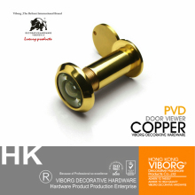 VIBORG Top Quality 220 Degree Brass Wide Angle Peephole Door Viewer, Door Spyphole Viewer, EK-11-30SB