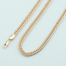 FJ Smart 5mm Men Women 585 Gold Color Necklace Curb Classic Chains Customize Jewelry
