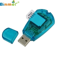 Binmer Mecall WUSB Sim Card Reader Writer Cellphone SMS Backup Adaptor wholesale Mo18