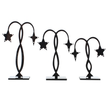 FUNIQUE 2Sets Black Umbrella Star Bird Human Shape Acrylic Display Stand Necklace Fashion Jewelry Displays 15.7x8.2cm-10.7x8.2cm
