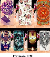 Luxury Painted Mobile Phone Skin Cases For Nokia Lumia 1320 Covers Anti-Scratch Protective Bags 18 Styles Plastic Durable Shell