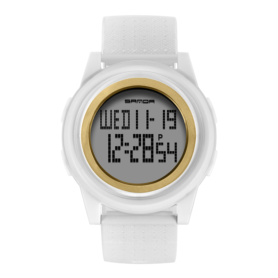SANDA Fashion Women Sports Watches Waterproof 30m Ladies Ultra Thin LED Digital Watch Swimming Diving Hand Clock Montre Femme 24