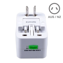 Woopower Universal World Charger Plug All-in-one Travel AC Power Adapter Converter to US/UK/AU/EU