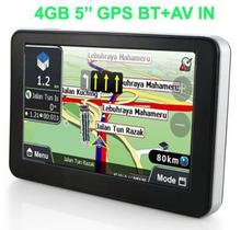 "5"" Touch Screen Car GPS Navigation Sat Nav CPU800Mhz 128M/4GB with Bluetooth AV/IN + FM Transmitter +Free latest Maps"