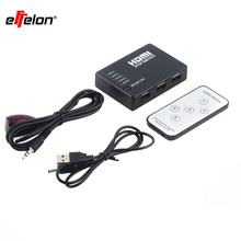 Effelon 5x1 5-Port HDMI Switch/Switcher with IR Remote and AC Adapter Supports 3D