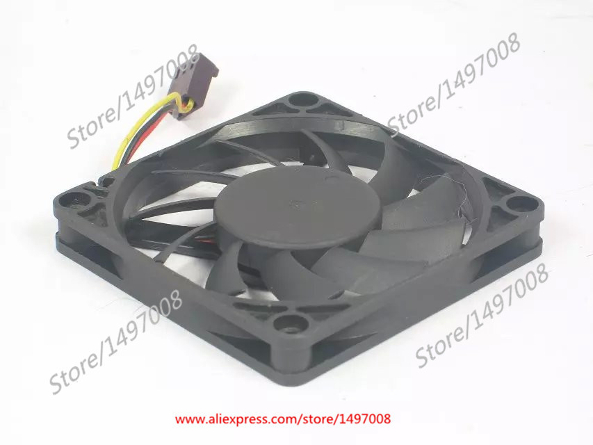 Free Shipping Emacro EVERFLOW  R127010BU  DC 12V 0.45A 3-wire 3-pin connector 70mm 70x70x10mm  Server Square fan<br>