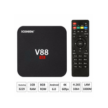 KAISGO V88 Android TV Box RK3229 Quad-core 1G/8G 4K 3D Set Top Box HD 1080P Smart Media Player TV Moving Box with WiFi TV BOX(China)