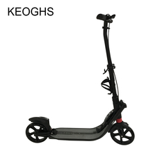 adult children kick scooter NEW pattern foldable PU 2wheels Hand brake bodybuilding all aluminum urban campus transportation(China)