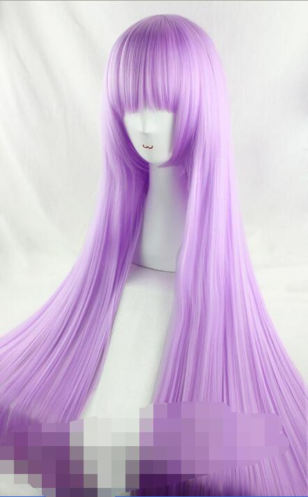 Cos 100cm pink purple long straight cosplay wigParty cosplays heat resistant (B0320)<br><br>Aliexpress