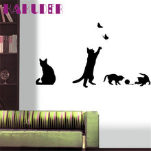 Fashion Wall Stickers Cat Stickers Living Decor Tv Wall Decor Child Bedroom Vinyl for kids rooms adesivos de parede poster
