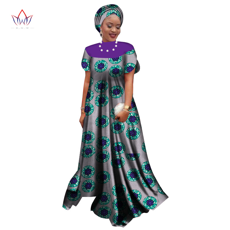 Summer New Style 2019 African Dresses for Women Dashiki Elegant Party Dress Plus Size Traditional African Clothing BRW WY2563