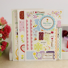 9PCS/3set Korea Creative Lace Paper Sticker Calendar Diary Book Sticker Scrapbook Decoration Office Stationery Gift