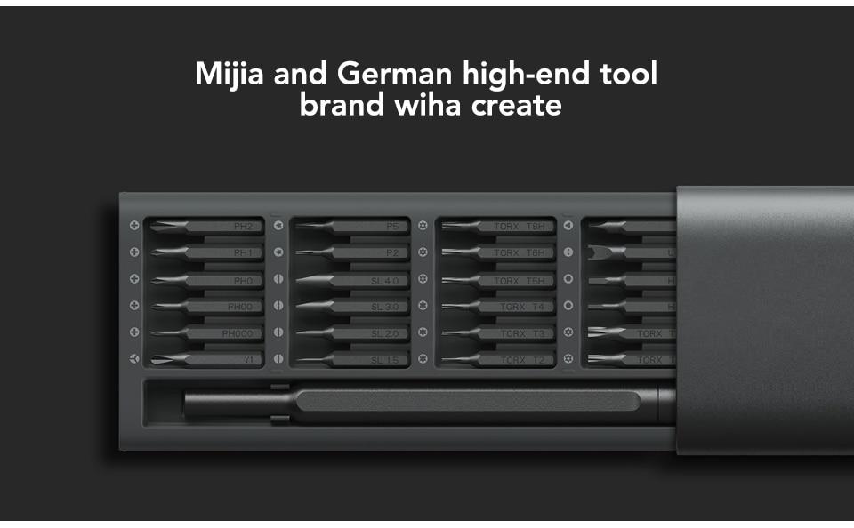 Original Xiaomi Mijia Wiha 24 in 1 Precision Screw Driver Kit 60HRC Magnetic Bits Xiaomi Home Kit Repair Tools Xiomi Xaomi (2)
