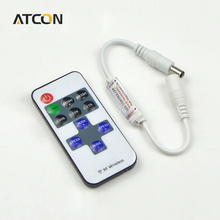 1set Single Color Remote Control Dimmer DC 12V 11keys Mini Wireless RF LED Controller for led Strip light SMD 5050 / 3528 / 5630