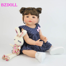 Princess Toddler Baby-Doll Body Reborn Girl Waterproof 55cm Toy Vinyl Lifelike Full Silicone