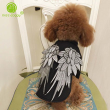 New Spring Dog Hoodies Dog Coat Embroidery Wing High Fashion Dog Clothes Luxury Pet Clothing Cool Punk Style Puppy Cat Clothes(China)