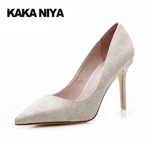 White Evening 2017 4 34 Small Size High Heels Shoes Stiletto 9cm Inch Spring Fashion Women Pumps Pointed Toe Off Closed Banquet
