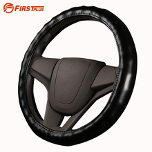 36-47cm Genuine Leather Auto Truck Bus Steering Wheel Cover For Daewoo Volvo Man Renault DAF Isuzu Mitsubishi Car Styling(China)