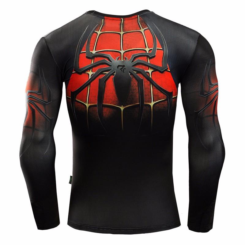 Marvel Gyms Clothing Fitness Compression Shirt Men Batman t-shirt men Long Sleeve 3D t shirt men Crossfit Tops tee shirt homme 21