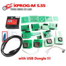 Wholesale Price Newest version Metal Full Adaptors X PROG M Programmer Xprog m Xprog-m V5.55 ECU Chip Tunning X PROG-M 5.55
