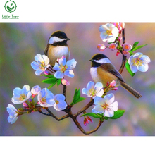 new hot sale 5d diamond painting cherry blossom chickadees bird mosaic picture handmade rhinestone needlework diamond embroidery(China)