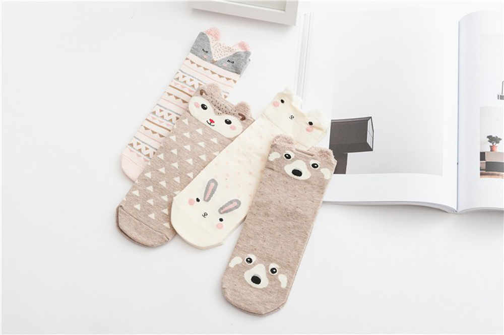 17 New Lovely Cartoon Women Socks High Quality Cotton Sox Japanese Fashion Style Socks Autumn Winter Warm Socks For lady Girls 8