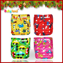 2015 New arrival FREE shipping Babyland Cloth Diaper Wholesale China 30PCS Diaper+30PCS Inserts+ 30PCS Bamboo Insert(China)