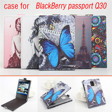 4 Style Original Flip PU Leather Case For Blackberry Passport Q30 Smart Mobile Phone Cellphone Case Bags Skin Shell
