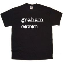 GRAHAM COXON Band logo Rock Thrash Black HEAVY METAL PUNK POP t shirt tee(China)